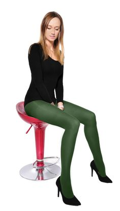 Classic Plain Green Microfiber Tights 60 Denier Pantyhose Hosiery S M L XL Colored Tights Outfit, Green Tights, Moda Barcelona, Pantyhose Outfits, Pantyhose Heels, Fashion Tights, Steampunk Fashion, Gothic Fashion, Opaque Tights