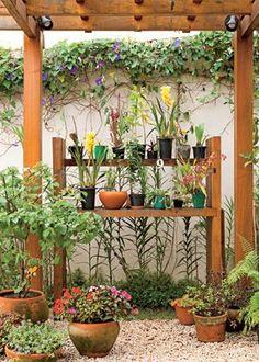 Resultado de imagem para pergolados em mini jardins