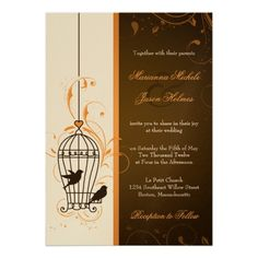 ReviewFanciful Swirls Birdcage Orange & Brown Wedding InvitationsWe have the best promotion for you and if you are interested in the related item or need more information reviews from the x customer who are own of them before please follow the link to see fully reviews