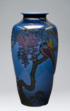 Made by Rookwood Pottery, Cincinnati, Ohio, 1880 - 1960. Decorated by Edward  Timothy Hurley, American, 1869 - 1950, active at Rookwood Pott...