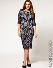 ASOS CURVE Exclusive Midi Dress In Lace