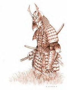 Samurai war art on my right upper arm