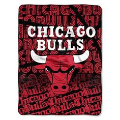 NBA Chicago Bulls Throw Blanket 50x60 Red Black White Sports & Collegiate Pattern Polyester Soft Touch Team Logo Sports Themed Perfect Living Room