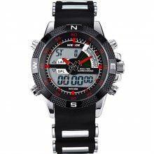 WEIDE Watches Men Luxury Brand Famous Military LCD Luminous Analog Digital Date Week Alarm Display Watch