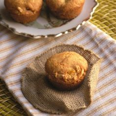 White Chocolate Crunch Mango Muffins