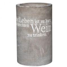 Toller WEinkühler - Spruch für WEinkarte: Das Leben ist zu kurz um schlechten WEin zu trinken!