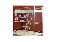 Lit mezzanine avec bureau on pinterest lit mezzanine lit mezzanine fly and - Bureau sous lit mezzanine ...