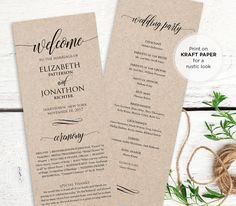 Hey, I found this really awesome Etsy listing at https://www.etsy.com/listing/386931972/wedding-program-printable-order-of