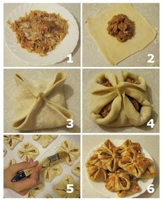 how to make a yummy good looking pastry 1 Cookie Desserts, Just Desserts, Dessert Recipes, Bread Shaping, Yummy Food, Tasty, Bread And Pastries, Russian Recipes, I Love Food