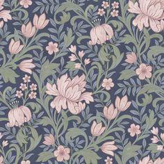 Tapet Boutique m Rosa Trädgård Non-woven - Tapeter - William Morris, Pattern Art, Pattern Design, Boutique, Weave Shop, Drawing Stencils, Pink Garden, Textiles, Illustrations And Posters