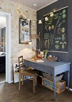 9 x nostalgic plant painting We have a home Botanical Interior, Desk Inspiration, Home Workshop, Scandinavian Home, Art Wall Kids, Guest Bedrooms, Inspired Homes, Decoration, Vintage Decor