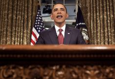 President Barack Obama isn't as fond of delivering speeches from the Oval Office as other modern presidents have been.