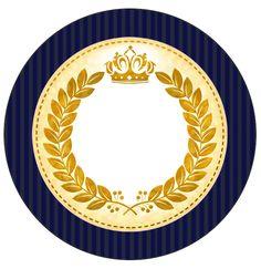 Tubetes, latinhas e Toppers Coroa Príncipe Azul Marinho