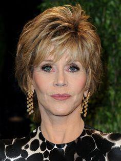 Jane Fonda formal short hairstyle