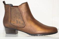 Gerry Weber made in Germany. Pull on ankle boot with detailed elastic gusset heel height Available in Bronze. Chelsea Boots, Bronze, Ankle, Heels, Fashion, Heel, Moda, Wall Plug, Fashion Styles