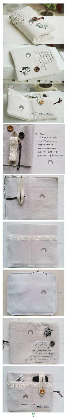 Folding pocket pouch for ipod or iphone and ear buds @Kelly Teske Goldsworthy Teske Goldsworthy Teske Goldsworthy Jones