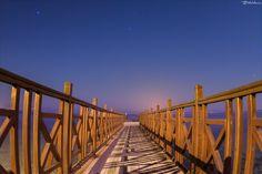 Βridge of dreams Night landscape near the Kaisers bridge, Benitses, Corfu Dream Night, Corfu Greece, Travelling, Bridge, Greek, Dreams, Explore, Landscape, Scenery