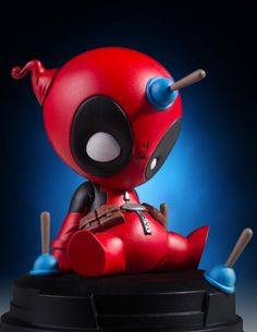 Gentle Giant Ltd. is delighted in announcing the next character from our Marvel animated statues line with Deadpool! This adorable collectible is a playful take on the Merc with a Mouth, and is based off cover and page designs from the Marvel comics. Marvel Animation, Marvel Comics, Marvel Vs, Baby Marvel, Marvel Facts, Hero Squad, Collection Marvel, Marvel Statues, Character