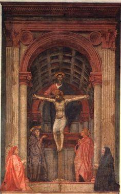 Masaccio, Santa Maria Novella, Florence, the holy trinity