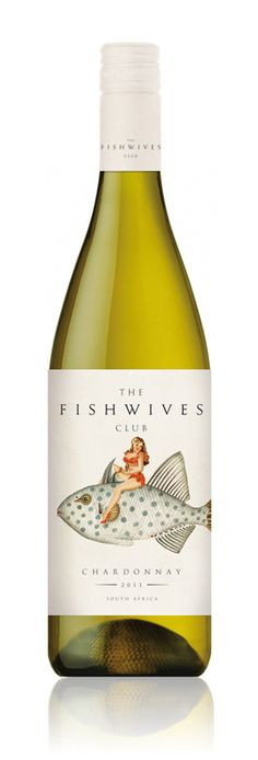 Fishwives Club Wine #wine #label