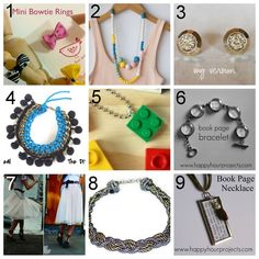 tons of diy jewelery... lots of great projects