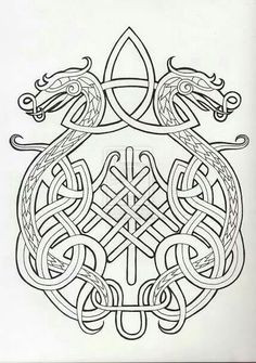 dragon celtic knot: