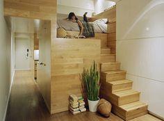 Como aproveitar o espaço com camas suspensas e mezaninos - limaonagua