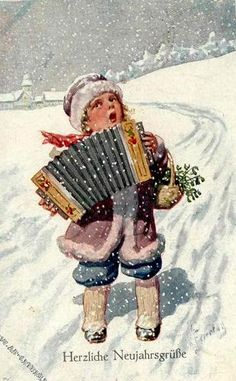 AK_13044927_gr_1 (362x585, 48Kb) Vintage Christmas Images, Victorian Christmas, Retro Christmas, Christmas Carol, Christmas Pictures, Winter Christmas, Images Noêl Vintages, Clip Art Pictures, Winter Images