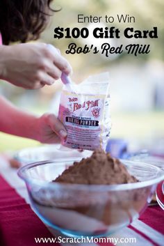 Get all the baking supplies you need for this baking season by entering this Bob's Red Mill giveaway... You can win a $100 gift card to their website!