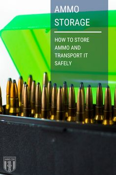 Proper ammo storage is the key to safely transporting ammo. Our easy to understand guide will show you how to store and transport ammo the right way! #ammo #storeammo #transportingammo #preparedness Ammo Storage, Safe Storage, Survival Skills, Transportation, Key, Store, Unique Key, Larger, Shop