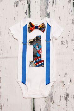 Captain America Theme Super Hero Bow tie by LoveAndLollipopsBaby