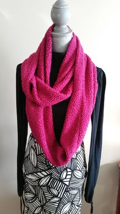 Infinity scarf/ Fuschia PINK/warm weather/accessories/gifts/for her/women/fashion/sewing/handmade/Toronto/girls/wraps/Holidays/winter by AmshinaApparel on Etsy