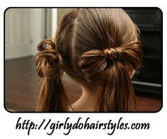 Easy hair (literally) bows for little girls! LOVE this.