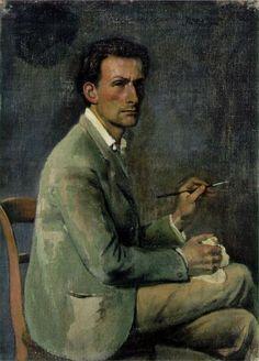 """Balthus (Balthasar Kłossowski de Rola, 1908, Paris - 2001, Rossinière), """"Autoritratto"""" / """"Self-Portrait"""", 1940, Olio su tela / Oil on canvas, 44 x 32 cm, Collezione private / Private Collection"""