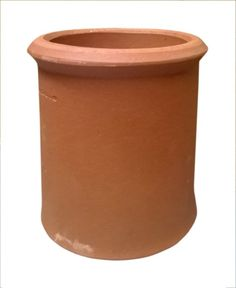 Clay chimney pot in various colours. Straight sided with roll top. Please select from the drop down list your required size. Dimensions for the various sizes shown in the images.