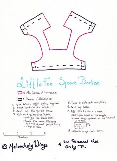 LittleFee Square Bodice Pattern | Flickr - Photo Sharing!