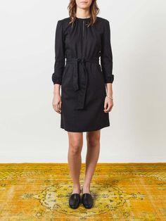 0a693bfa4ef40 a.p.c.-patricia-dress-black-on-body Jacquard Dress