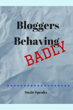 The naughty things that bloggers do...