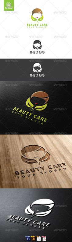 Beauty Care Logo Template  #GraphicRiver