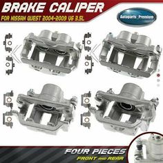 Front and Rear Brake Calipers For 2006-2010 FORD EXPLORER MERCURY MOUNTAINEER