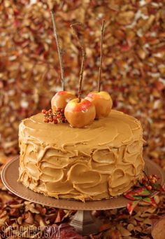 I am thinking about making this one too...I can't decide on which one I want to go with...Caramel Apple Cake with Salted Caramel Buttercream by SugarHero!