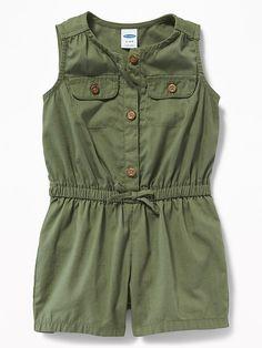 Old Navy Sleeveless Poplin Utility Romper for Baby Toddler Girl Gifts, Toddler Boy Fashion, Toddler Girl Style, Baby Girl Fashion, Toddler Outfits, Kids Fashion, Girl Outfits, Fashion Clothes, Boy Clothing