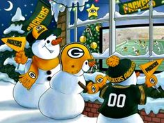 I've always loved this Packer snow people scene! So cute & it can put a smile on your face even at a time when our country is still in mourning. Happy Holidays, everyone!