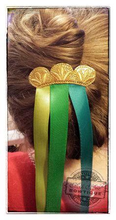 Anna Coronation Hair Clip Anna Hair Bow by MikMakBowtique on Etsy