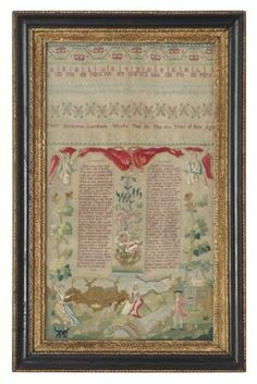 532: FINE NEEDLEWORK SAMPLER Mary Susannah La : Lot 532