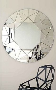 Mirror Decoration You Will Love. Mirror Decoration You Will Love. In interior design, a mirror can be something that has magical power. The mirror can brighten a room that feels dark,. Cool Mirrors, Beautiful Mirrors, Round Mirrors, Modern Mirrors, Vitromosaico Ideas, Decor Interior Design, Interior Decorating, Ok Design, Mosaics