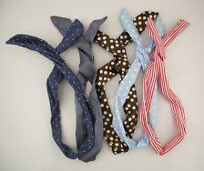 5x Korean Girl's Cute Rabbit Ear Ribbon Denim Chiffon Headband Hair Band