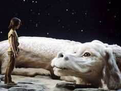 Falkor, the dog-like dragon from Neverending Story. Few dragons have ever looked weirder, and few dragons have ever won a bigger place in our hearts.