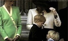 Young Prince Harry dancing while Princess Diana looks on (short clip)