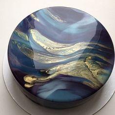 Olga Noskova mirror marble cake